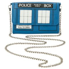 Doctor Who TARDIS Crossbody Bag | Hot Topic (21 AUD) ❤ liked on Polyvore featuring bags, handbags, shoulder bags, doctor who, crossbody handbags, white handbags, white cross body purse, white purse and crossbody shoulder bags
