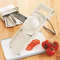 Ultimate Mandoline - a variety of slicing options, totally adjustable for slicing over a board or bowl.