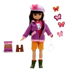 New Lottie Baby Doll 3+ Girl 18cm 7in Butterfly Protector #Lottie #DollswithClothingAccessories