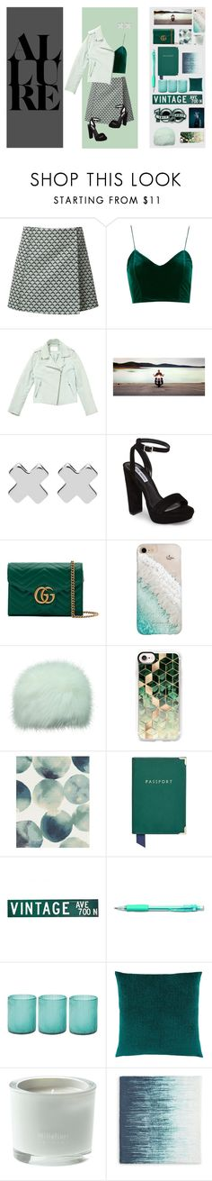 """""""shades of teal"""" by purpleglitter209 ❤ liked on Polyvore featuring Misha Nonoo, Gant Rugger, Schott NYC, Witchery, Steve Madden, Gucci, Gray Malin, Casetify, West Elm and Aspinal of London"""