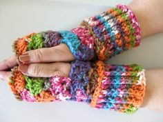 Fingerless Gloves pattern, PDF, crochet pattern, great for driving or texting. $5.00, via Etsy.