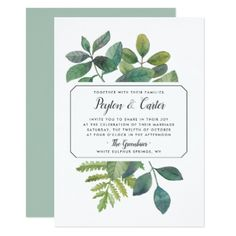 Greenery Wedding Invitations Greenery Wedding Invitations
