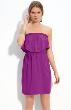 Magenta Strapless Dress