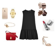 """""""Untitled #75"""" by leenap on Polyvore featuring Miu Miu, CÉLINE, Burberry, Movado and Steve Madden"""