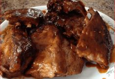 Sweet and Sour Crockpot Ribs. 1 cup brown sugar cup flour cup water cup vinegar 2 tablespoons soy sauce cup ketchup teaspoon ground ginger teaspoon garlic powder 3 pounds pork spareribs Mix brown sugar and flour in a saucepan. Add water, then vinegar, soy Crockpot Spareribs, Crockpot Meat, Crock Pot Slow Cooker, Crock Pot Cooking, Slow Cooker Recipes, Crockpot Recipes, Cooking Recipes, Crockpot Dishes, Delicious Recipes