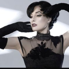 Image result for Dita Von Teese photoshoot Marilyn Manson pool