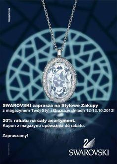 Stylowe zakupy w Swarovskim w weekend 12-13 października :)