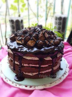 Naked Chocolate Cake | Triple Sprinkles