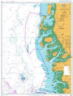 British Admiralty Nautical Chart 3767: North Sea - Germany and Denmark, Helgoland to Rømø