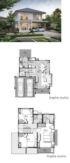 House Exterior Colors Schemes Floor Plans New Ideas Dream House Plans, Modern House Plans, Small House Plans, Modern House Design, House Floor Plans, House Exterior Color Schemes, Exterior Design, Exterior Colors, Home Design Plans