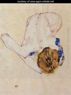 Forwards bent feminine act - Egon Schiele - www.egon-schiele.net
