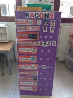 Control d'alumnes per racons Esl Resources, Learning Centers, Classroom Organization, Filing Cabinet, Ideas Para, Locker Storage, Preschool, Control, Teaching