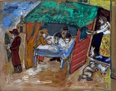 Marc Chagall The Feast of Tabernacles (Sukkot) c. 1916 gouache and watercolour on card 52.2 x 66.5 cm