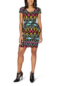 Neon Tribal Peplum Dress | rue21