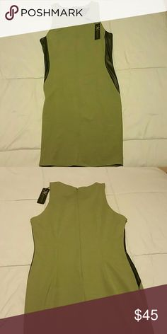 Kardashian Kollection Green Dress Size L Extremely Slimming Kardashian Kollection Green Dress with Black side. Size Large. Brand New with Tags. Kardashian Kollection Dresses Midi