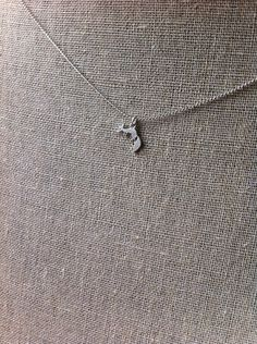 Fox Trot necklace silver by JillPickles on Etsy, $10.99