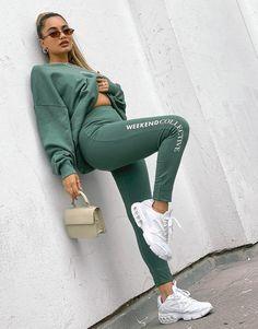 Asos, Leggings, Logo Color, Khaki Green, Cotton Spandex, White Jeans, Sporty, Skinny Jeans, Fitness