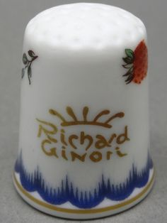 Richard Ginori-Italy. Edicion UK y USA. TCC. Thimble-Dedal-Fingerhut.