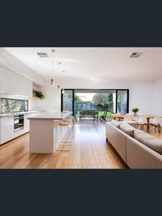 19 Arthur Street, Clarence Gardens, SA View property details and sold price of 19 Arthur Street & other properties in Clarence Gardens, SA Open Plan Kitchen Dining Living, Open Plan Kitchen Diner, Living Room Kitchen, Kitchen Layout, Nordic Living Room, Timber Kitchen, Best Bathroom Designs, Modern Bungalow, Kitchen Remodel