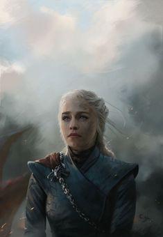 Daenerys Targaryen Art, Emilia Clarke Daenerys Targaryen, Game Of Throne Daenerys, Khaleesi, Arte Game Of Thrones, Game Of Thrones Poster, Game Of Thrones Quotes, Winter Is Here, Winter Is Coming