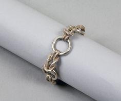 Hermès - argent, noeuds marins striés