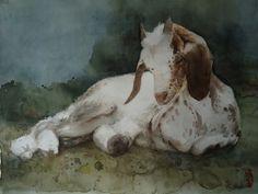 "Saatchi Online Artist Marie-helene Stokkink; Painting, ""chevrette 'rove'"" #art"