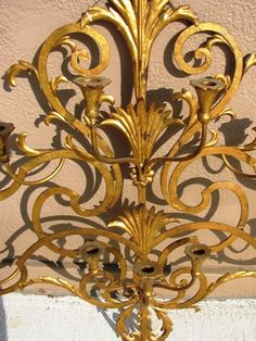 20th Century Tole Metal Ware Candlelabra Sconce by TheIDconnection, $325.00