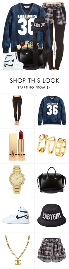 """""""Devanté Swing In the 90s """" by dope-madness ❤ liked on Polyvore featuring Forever 21, Yves Saint Laurent, H&M, Michael Kors, Givenchy, NIKE and Chanel"""
