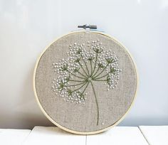 Floral hoop art Hand flower embroidery floral art embroidered floral hoop art Cute embroidery wall art blue Flower wall hanging Size wood hoop 17 cm ( inches) Embroidery stitched on cotton. Embroidery thread on cotton. Embroidery pack in wood hoop Let Hand Embroidery Tutorial, Learn Embroidery, Hand Embroidery Stitches, Silk Ribbon Embroidery, Embroidery Hoop Art, Embroidery Techniques, Floral Embroidery, Embroidery Patterns, Embroidery Supplies