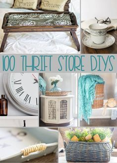 Over 100 Thrift Store DIY Projects from the Thrift Store Decor Team. Lots of gre… Over 100 Thrift Store DIY Projects from the Thrift Store Decor Team. Lots of great inspiration on how to transform those pieces you see in thrift stores! Pin: 735 x 1000 Diy Home Decor For Apartments, Diy Home Decor Projects, Diy Projects To Try, Decor Ideas, Diy Ideas, Wood Projects, Craft Ideas, Garden Projects, Decorating Ideas