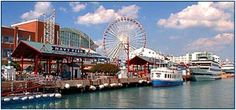 Navy Pier is a family attractionwith over 50 acres featuring entertainment, shopping, dining, cruises, and special events including 15-story tall Ferris Wheel and summer fireworks.