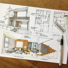 A leading platform for architecture sketchs. mention in your work and… A leading platform for architecture sketchs. mention in your work and we shall publish it if it's good enough. Interior Design Sketches, Interior Rendering, Sketch Design, Croquis Architecture, Art Et Architecture, Classical Architecture, Foster Architecture, Architecture Diagrams, Portfolio D'architecture