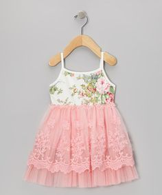 Take a look at this Pink Floral A-Line Dress - Infant & Toddler by Designer Kidz on #zulily today!