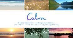 Relax with Calm, a simple mindfulness meditation app that brings clarity and peace of mind into your life #EasyMeditationTechniques