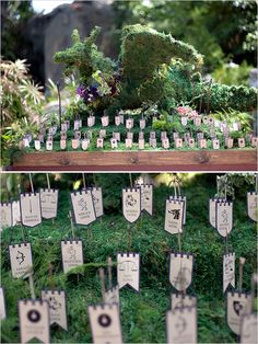 Perfect For A Game Of Thrones Wedding. Unique Escort Card Ideas Photo By  Bound By