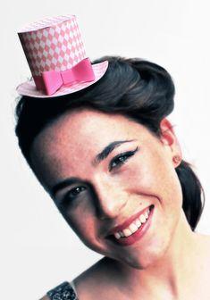 Diamond party hat pattern. Download 5 Mini Top Hats!