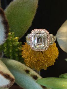 Custom Simon G engagement ring.