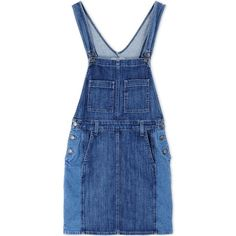 Current/Elliott Denim Overall Skirt ($320) ❤ liked on Polyvore featuring overalls, dresses, skirts and blue