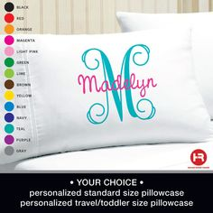 62 Best Personalized Pillow Cases Ideas Personalized Pillow Cases Pillow Cases Pillows