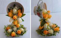 Wonderful DIY Topiary Flower Flying Cup Decor | WonderfulDIY.com