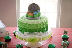 Teenage Mutant Ninja Turtle Cake. Turtle power!