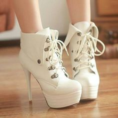Womens Side Zip Lace Up Stilettos Color Stitching Pump Heel Ankle Boots 3 Colors