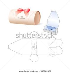 Find Retail Box Blueprint Template stock images in HD and millions of other royalty-free stock photos, illustrations and vectors in the Shutterstock collection. Thousands of new, high-quality pictures added every day. Paper Gift Box, Diy Gift Box, Diy Box, Paper Gifts, Paper Boxes, Packaging Dielines, Box Packaging, Packaging Design, Silhouette Cameo