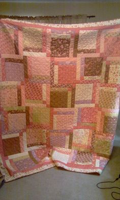 Layer Cake Quilt  i gotta try this charm & jelly roll quilt!  Sweet!