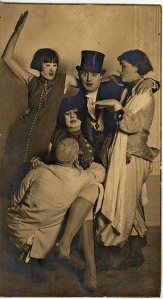 Weimar Party Time: Jankel Adler /standing with Anton Räderscheidt, 1920s  [by August Sander]