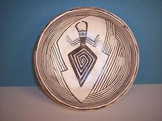 Navajo Pottery Bowl w/ Mimbres Ant Lion Design by Greg Holiday, NEW