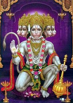 Panchamukha Hanuman refers to the five faces of the Lord. Hanuman Jayanthi, Hanuman Photos, Hanuman Images Hd, Durga Images, Krishna Radha, Hanuman Ji Wallpapers, Lord Vishnu Wallpapers, Lord Anjaneya, Lord Rama Images
