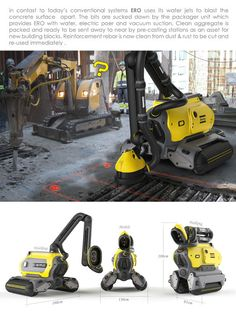 ERO; Concrete Recycling Robot by omer haciomeroglu, via Behance