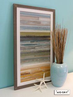 "Coastal Reclaimed Wood Art- 16"" x 28"". $250.00, via Etsy."