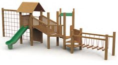 VG5102A - 2 Kuleli Ahşap Oyun Grubu | Ahşap Çocuk Oyun Parkları | Ahşap Oyun Grupları | Çocuk Oyun Parkları | Doapark